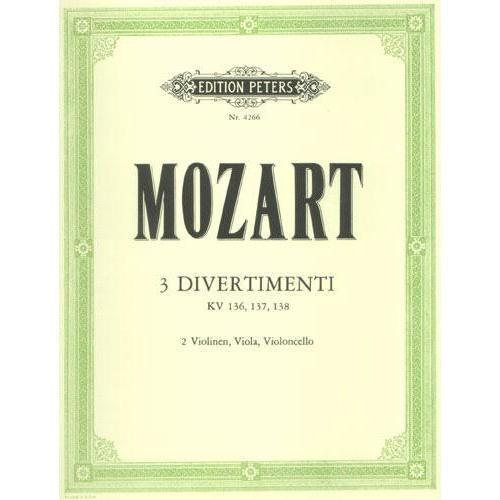 Mozart, W.A.: 3 Divertimenti KV 136, 137, 138 (string quartet)