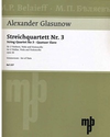 Glazunov, A.K.: String Quartet Op. 26 No. 3 in G, Slav Quartet (parts)