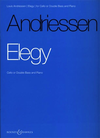 HAL LEONARD Andriessen, L.: Elegy (Cello or Bass & piano)