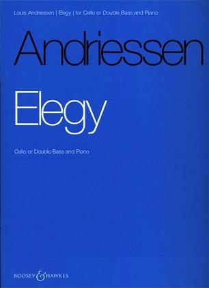 HAL LEONARD Andriessen, L.: Elegy (Cello or Bass & piano)