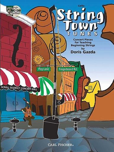 Carl Fischer Gazda, Doris: String Town Tunes (cello & CD)