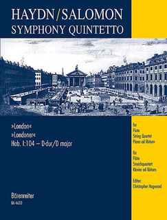 Barenreiter Haydn, F.J. (Hogwood): London Symphony (flute, 2 violins, viola, cello, piano ad libitum)