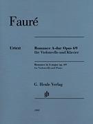 HAL LEONARD Faure, Gabriel: Romance Op.69 (cello & piano) HENLE