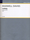 HAL LEONARD Davies, Peter Maxwell: Lullaby for Violin and Cello, 2002