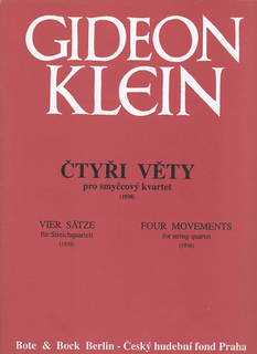 HAL LEONARD Klein, Gideon: Certyri Vety-Four Movements for String Quartet, 1938 (score and parts)
