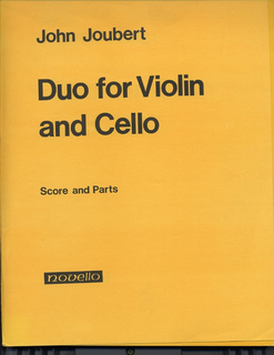 Novello Publishing Limited Joubert, John: Duo for Violin and Cello, Op.65 (score & parts) Special Import Item