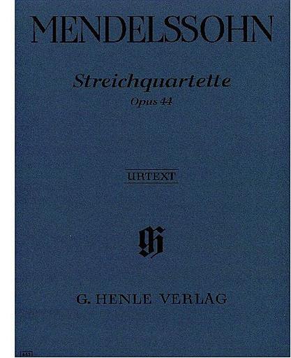 HAL LEONARD Mendelssohn, F. (Herttrich): String Quartet, Op. 44, No. 1-3, urtext (2 violins, viola, and cello)