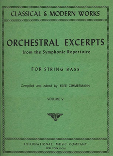 International Music Company Zimmerman: Orchestral Excerpts Vol.5 (bass)