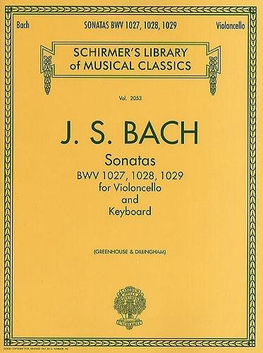 HAL LEONARD Bach, J.S. (Greenhouse/Dillingham): Sonatas, BWV1027-1029 (cello & piano) Schirmer