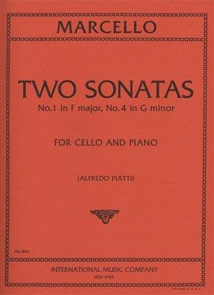 International Music Company Marcello, Benedetto (Piatti): 2 Sonatas #1 in F & #4 in G