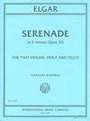 International Music Company Elgar, Edward: Serenade in E minor, Op. 20 (string quartet) score and parts, International