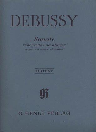 HAL LEONARD Debussy, C. (Heinemann, ed.):  Sonata, urtext (cello and piano)