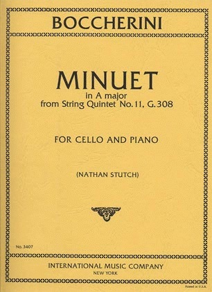 International Music Company Boccherini, Luigi: Minuet in A major from String Quintet No.11 (cello & piano)