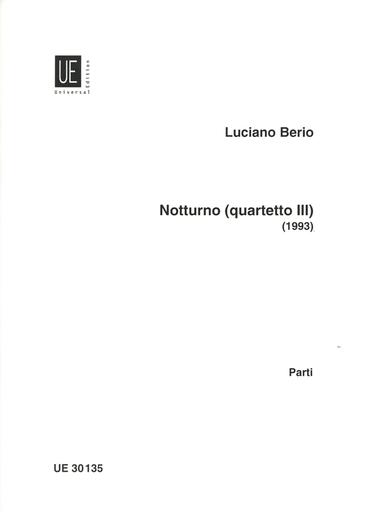 Carl Fischer Berio, L.: Notturno for String Quartet; Quartetto III - 1993 (2 violins, viola, and cello)