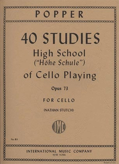 International Music Company Popper (Stutch): 40 Studies - High School of Cello Playing, Op.73 (cello)
