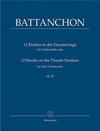 Barenreiter Battanchon, Felix  (1814-1893),  12 Etudes in the Thumb Position fur Solo Violoncello op. 25