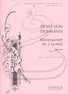 HAL LEONARD Dohnanyi: Piano Quintet No.2 in Eb minor, Op.26 (piano quintet) Simrock