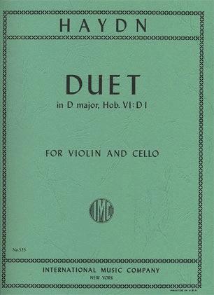 International Music Company Haydn: Duet in D Major, Hob.VI: DI (violin & cello)