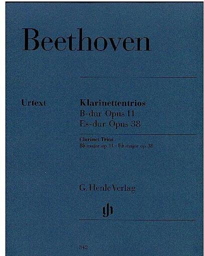 HAL LEONARD Beethoven, L. van (Klugmann, ed.): Trios, Bb, Op. 11 and Eb, Op. 38  (clarinet or violin, cello & piano)