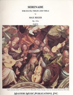 LudwigMasters Reger, Max: Serenade Op.141a (flute, violin & viola) score & parts