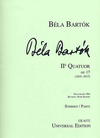 HAL LEONARD Bartok, B: String Quartet No. 2 (set of parts)