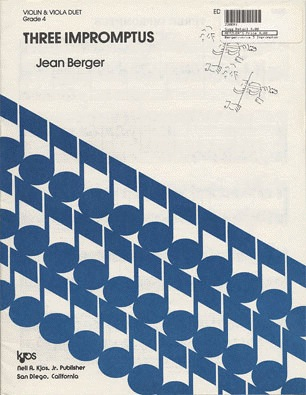 Berger, Jean: Three Impromptus for Violin & Viola
