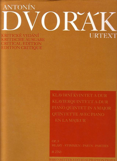 Barenreiter Dvorak, Antonin: Quintet in A major, Op. 5 (2 violins, viola, cello, piano) Barenreiter