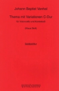 HAL LEONARD Vanhal, JB (Stoll): Theme & Variation in C (cello & bass)