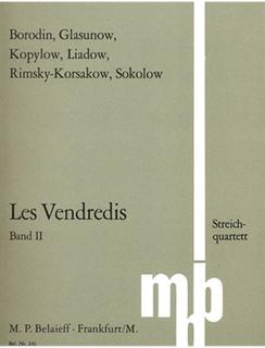 M.P. Belaieff Les Vendredis: (collection/parts) 7 Pieces for String Quartet, Vol.2 (string quartet) M.P. Belaieff