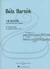 HAL LEONARD Bartok (Kurz): 18 Duos for 2 Violoncelli - ARRANGED (2 cellos) Boosey & Hawkes