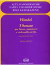 HAL LEONARD Handel, G.F.: 3 Sonate for flute, cello, piano