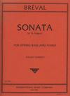 International Music Company Breval, J.B.: Sonata in A (bass & piano)