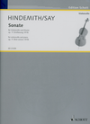 HAL LEONARD Hindemith (Say): Sonate for Cello and Piano Op. 11