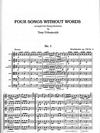 Mendelssohn (Urbainczyk): Four Songs Without Words (string quartet)