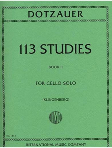 International Music Company Dotzauer (Klingenberg): 113 Studies Vol.2 (cello)