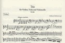 Beethoven: String Trio in Eb, Op.3 Eb (violin, Viola, Cello)