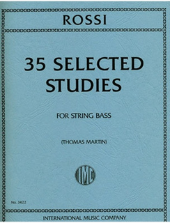 International Music Company Rossi, Luigi: 35 Selected Studies for String Bass