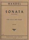 International Music Company Handel: Sonata D minor Cello and Piano