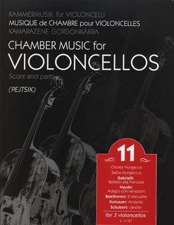 HAL LEONARD Pejtsik: Chamber Music for 3 Cellos Vol.11 (3 cellos) score & parts, Edito Musica Budapest