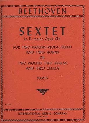 International Music Company Beethoven, L.van: Sextet Op. 81b (2 violins, 2 violas, 2 cellos)