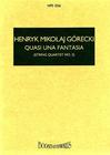 HAL LEONARD Gorecki, H.: String Quartet No. 2 Quasi una Fantasia (study score)