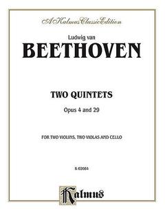 Alfred Music Beethoven, van L.: Quintet Op.4, 29 (2 violins, 2 violas, and cello)