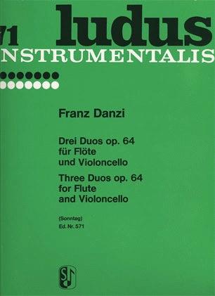 HAL LEONARD Danzi, Franz: Three Duos Op.64 (flute & cello)