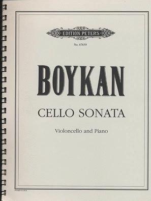 Boykan, Martin: Cello Sonata (cello & piano)