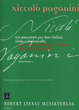 Paganini, Niccolo: String Quartet No. 1