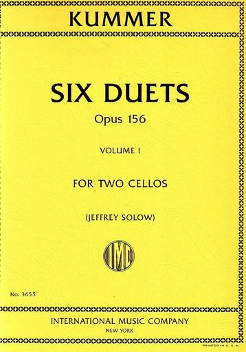 International Music Company Kummer (Solow): Six Duets, Op. 156, Vol. 1 (2 cellos)