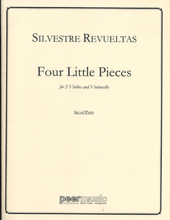 HAL LEONARD Revueltas: 4 Little Pieces (2 violins & cello)
