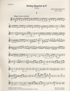Britten, Benjamin: String Quartet in F, 1928  (parts)