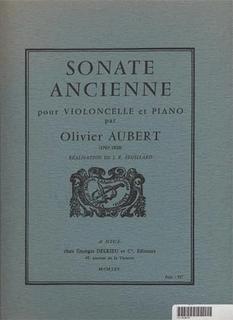 Edition Delrieu Aubert, Olivier: Sonate Ancienne (Cello & Piano) Edition Delrieu