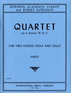 International Music Company Borodin, Glazunov, Lyadov, Rimsky-Korsakov: Quartet on a theme B-LA-F (string quartet) IMC